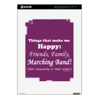 Marching Band Makes Me Happy Decals For iPad 3