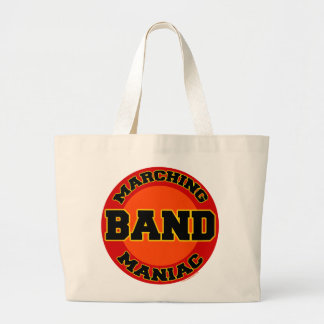 Marching Band Maniac Large Tote Bag