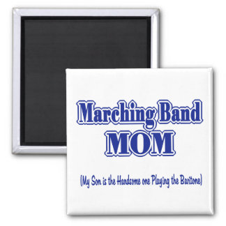 Marching Band Mom / Baritone 2 Inch Square Magnet