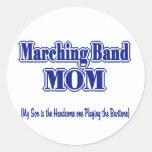 Marching Band Mom / Baritone Classic Round Sticker