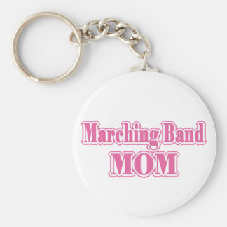 Marching Band Mom Basic Round Button Keychain