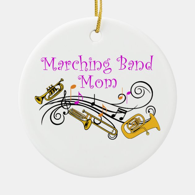 Marching Band Christmas Ornaments Part - 45: MARCHING BAND MOM CERAMIC ORNAMENT | Zazzle