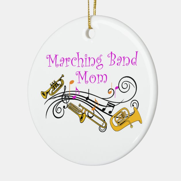 Marching Band Christmas Ornaments Part - 46: MARCHING BAND MOM CERAMIC ORNAMENT | Zazzle