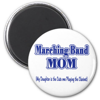 Marching Band Mom/ Clarinet 2 Inch Round Magnet