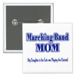 Marching Band Mom/ Clarinet 2 Inch Square Button