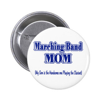 Marching Band Mom/ Clarinet Button