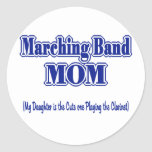 Marching Band Mom/ Clarinet Classic Round Sticker