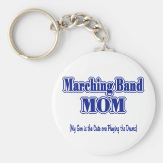 Marching Band Mom/ Drums Basic Round Button Keychain