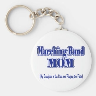Marching Band Mom/ Flute Basic Round Button Keychain