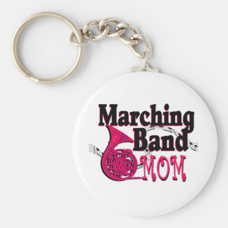 Marching Band Mom/ French Horn Basic Round Button Keychain