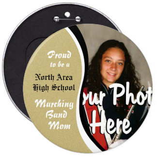 Marching Band Mom Gold Pinback Button