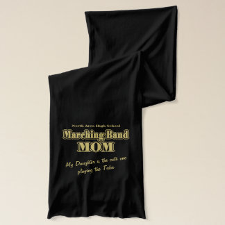 Marching Band Mom Gold Scarf
