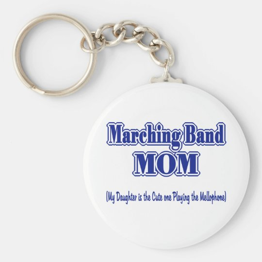 Marching Band Mom/ Mellophone Keychain