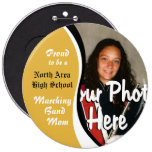 Marching Band Mom Pinback Buttons