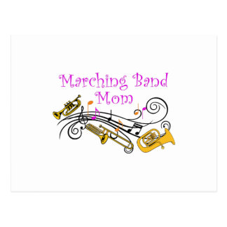 MARCHING BAND MOM POSTCARD