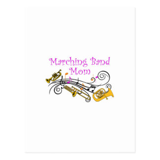 MARCHING BAND MOM POST CARDS