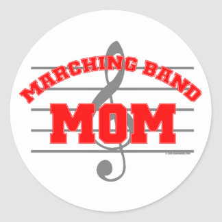 Marching Band Mom Round Stickers