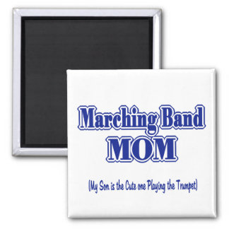 Marching Band Mom/ Trumpet 2 Inch Square Magnet