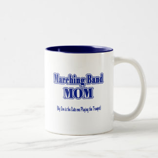 Marching Band Mom/ Trumpet Two-Tone Coffee Mug