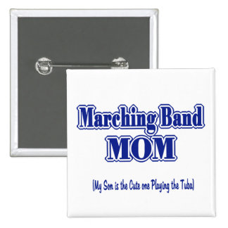 Marching Band Mom/ Tuba Pinback Button