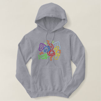 Marching Band Outline Embroidered Hoodie