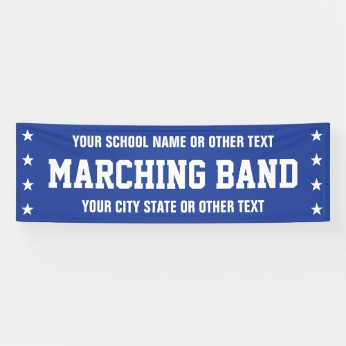 Marching Band Parade Banner with custom text