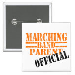 Marching Band Parent Stamped Pinback Button