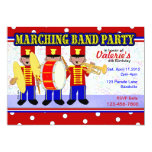 """Marching Band Party 5"""" X 7"""" Invitation Card"""