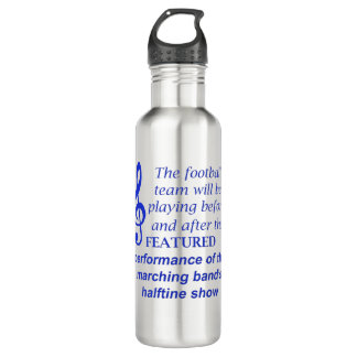 Marching Band Performance 1058.png Stainless Steel Water Bottle