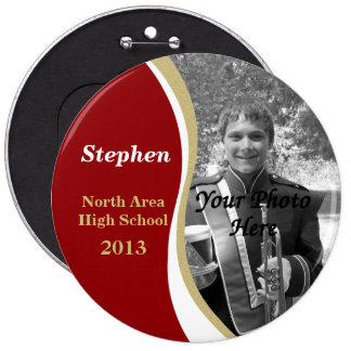Marching Band Photo Red Gold 2013 Pinback Button