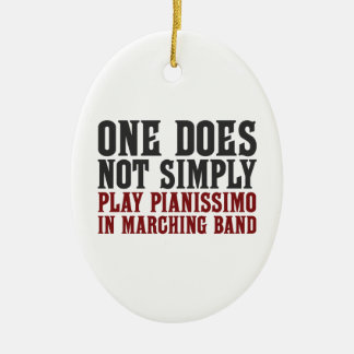 Marching Band Pianissimo Ceramic Ornament