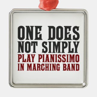 Marching Band Pianissimo Metal Ornament