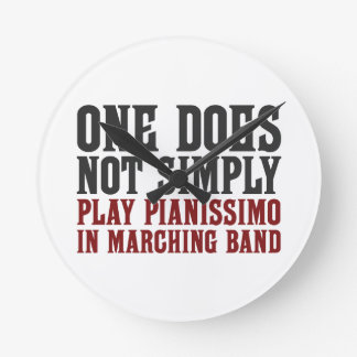 Marching Band Pianissimo Round Clock