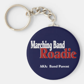 Marching Band Roadie Basic Round Button Keychain
