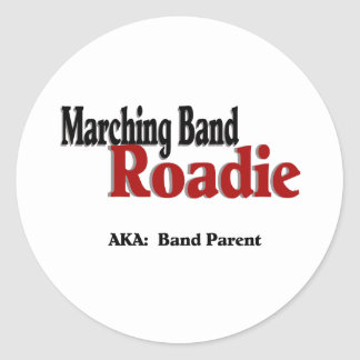 Marching Band Roadie Round Stickers