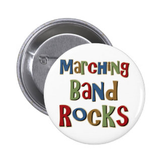 Marching Band Rocks Buttons