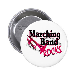 Marching Band Rocks Button