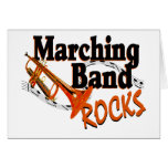 Marching Band Rocks Greeting Cards
