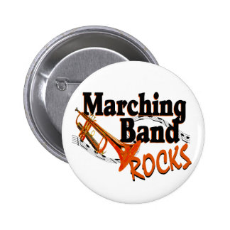 Marching Band Rocks Pinback Button