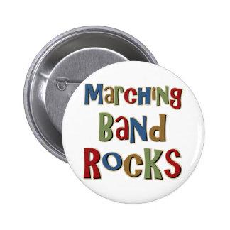 Marching Band Rocks Pinback Button