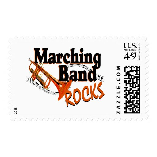 Marching Band Rocks Postage