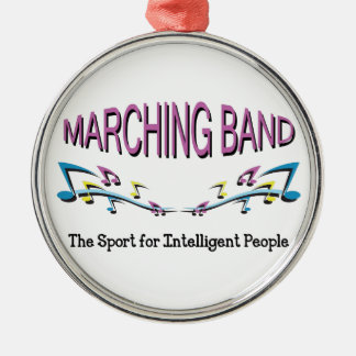 MARCHING BAND ROUND METAL CHRISTMAS ORNAMENT