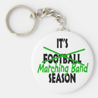 Marching Band Season Basic Round Button Keychain