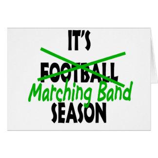 Marching Band Season Card