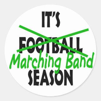 Marching Band Season Classic Round Sticker