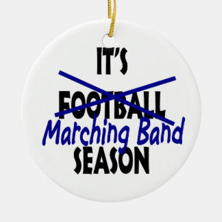 Marching Band Season Double-Sided Ceramic Round Christmas Ornament