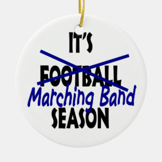 Marching Band Season Photo Ceramic Ornament