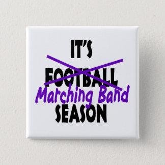Marching Band Season/ Purple Pinback Button