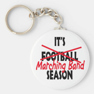 Marching Band Season / Red Basic Round Button Keychain