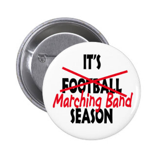 Marching Band Season Red Pinback Buttons